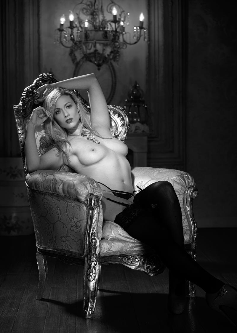 Sesión de fotos sensuales estilo Playboy