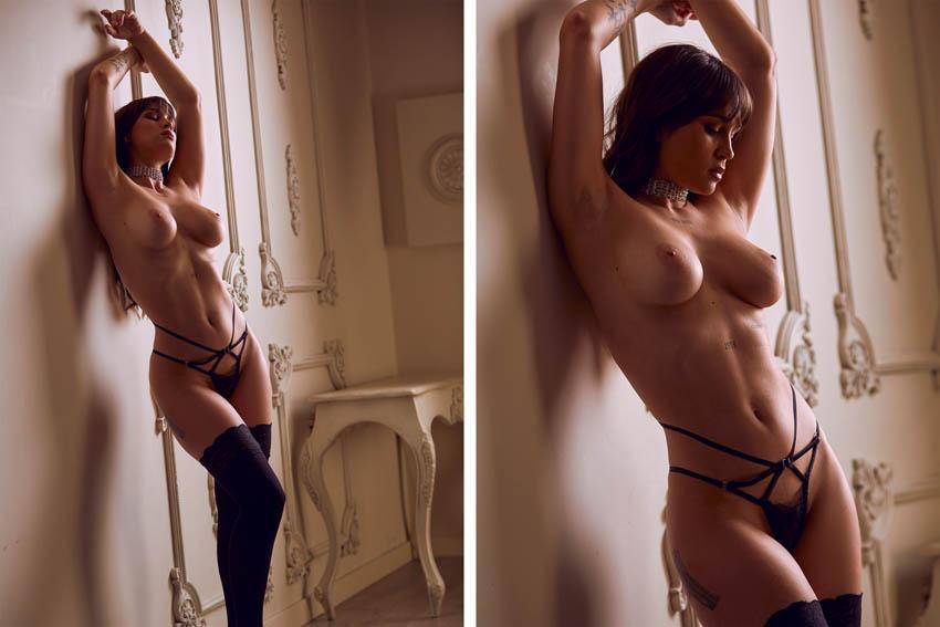 sesión de fotos desnudo profesional en estudio