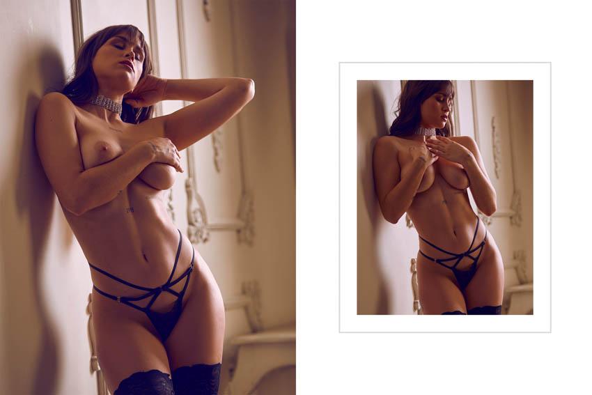 sesión de fotos desnudo
