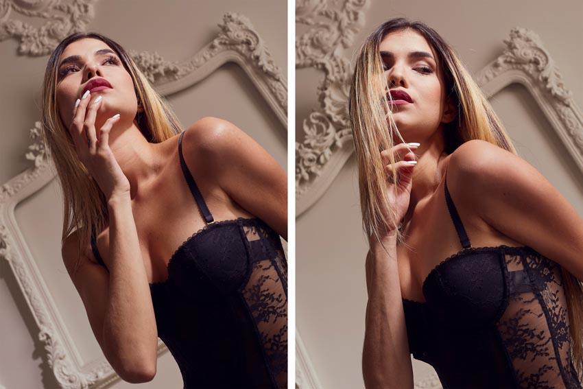 Book de lencería para modelos en Madrid