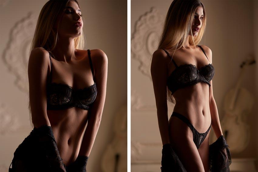 fotos profesionales en lencería para agencias de modelos