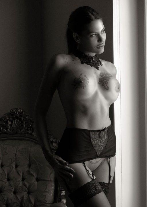 Sesión de fotografías de desnudo