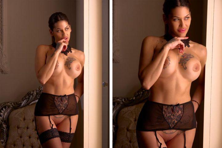Sesión de fotografías de desnudo profesionales