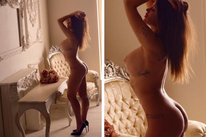 Sesión de fotos Boudoir desnuda